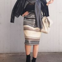 83281 gonna skirt rock yubka jupe